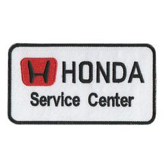 ホンダ(HONDA)Service Center■ワッペン■白黒赤#hsc001
