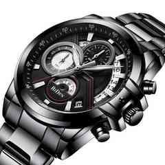 大感謝セール★高評価 1ランク上のハイセンス腕時計 黒