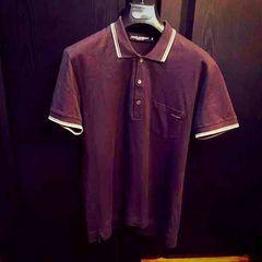 美品ドルチェ&ガッバーナD&Gポロシャツ半袖ブラウン46茶ロゴ