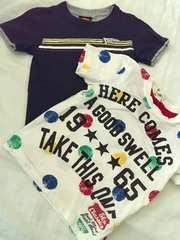 ♯半袖Tシャツ♯2点まとめ売りスーパーマン ドット120130