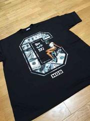 LA直輸入  CASH−MOB100$サイズ3XL XXXL黒Tシャツ Z�J