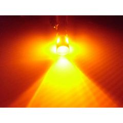 送料無料 12V24V兼用無極性 BA9s-G14型 橙 アンバー 6連LED 2個