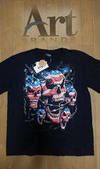 セール 新品[Art BRANDS]星条旗スカル柄 半袖Tシャツ スカジャン好きにも