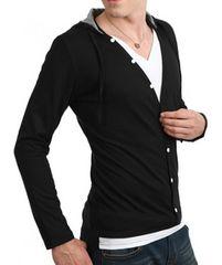 ◆送料込新品◆メンズ ロンT 27817 XXLサイズ ブラック