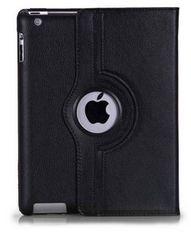 iPad2/3/4 回転カバー レザーケース皮革/黒