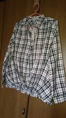 チェックシャツ*M