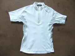 ルコック  ジップ付きモックTシャツ M 白 ホワイト
