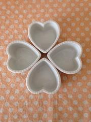 ハート型ココット 白 4個セット