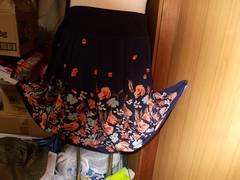 新品フレアースカート膝丈、サイズLL