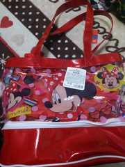 ミニーマウス ★ ビニールバッグ巾着付き