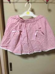 ドット柄スカート☆