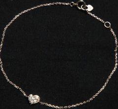 Star.Jewelry☆ピンクゴールド天然ダイヤハートブレスレット