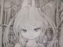 †オリジナル†「路地裏入ルト。」†シャーペン画自作イラスト†1円スタート†