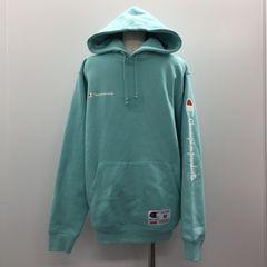 【GENKINGオク】SUPREME×Champion Hooded Sweatshirt M Aqua