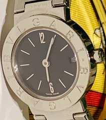 良品ブルガリブルガリレディース時計BB23SS定価43万ブレスベルト