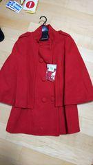 イマージュ新品真っ赤な変形コート高級