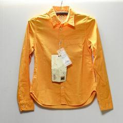 新品 サイズM ミスエドウィン プレーンシャツ オレンジ