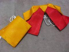 浴衣帯 ゆかた作り帯 黄色×赤 夏祭り 縁日に・・・