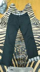 Men's 2way ブラック パンツ