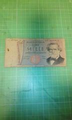 イタリア旧旧1000リラ紙幣♪