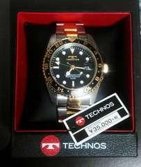 新品同様 限定モデル《TECHNOS GMT Limited �U》