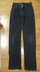 140�p黒デニムズボン��1093