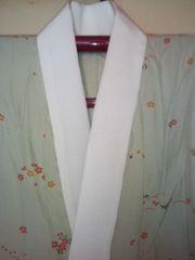 薄渋緑小花*長襦袢正絹単衣美品レタパP