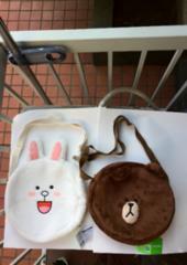 新品☆未使用♪LINE/ライン ブラウン&コニー キャラクターバッグ全2種値下