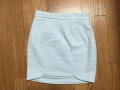 新品riendaリエンダタイトミニスカートブルー水色ワンピースコクーンスカート
