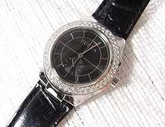 ☆本物フルラ FARRAH ラインストーン腕時計