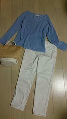 300円スタート グローブ 春服 水色のセーター サイズM