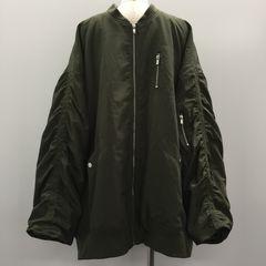 【GENKINGオク】H&M フライトジャケット カーキ×ベージュ