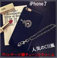 新品★ iPhone7 ケース PUレザー クロムハーツ風 スマホ カバー