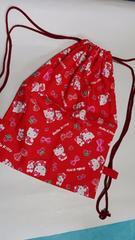 N6 ◆   ナップサック巾着 キティ (^o^) 体操服入れ ハンドメイド