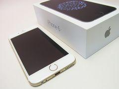 au iPhone6 16GBゴールド美品白ロム