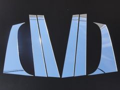 クロームメッキ超鏡面ピラーモール プジョー307