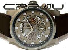 新品・未使用 CRRJU【クロノグラフ】大型 メンズ腕時計