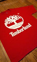 LA直輸入!TimberLandティンバーランド赤白プリ Tシャツ  サイズXXL2XL