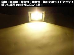 送料無料 12v24v兼用 10w LEDワークライト 投光器 電球色 作業灯