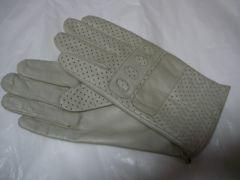 ポルトラーノ高品質鹿皮革仕様羊皮革手袋23〜24 アイボリー