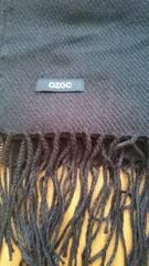 オゾック OZOCロゴ入り 黒ストール 膝掛けにも  新品