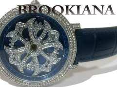 極美品 1スタ★BROOKIANA【ジルコニア】大型 メンズ 腕時計