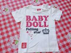 美品80☆ベビードール☆Tシャツ Falling star☆白