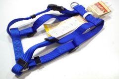 送円~15kg20kgプラットハーネスM青F4853胴輪45~70cm用ブルー
