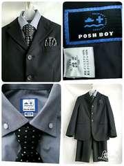 ☆POSH BOY ☆男の子 お洒落なスーツ 130