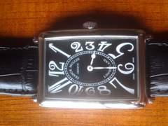 ★正規品フランクミュラーで黒革クロコの腕時計です☆