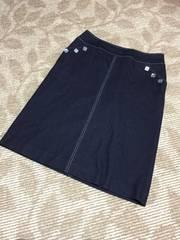 N237/台形スカート/デニム風/柔らか素材/