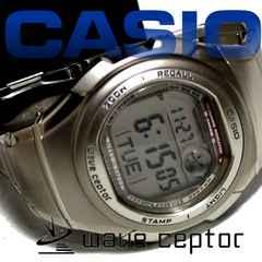 極美品【箱・コマ】1スタ CASIO【電波受信】Wave Ceptor
