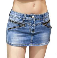 ミニスカートに見える★デニムショートパンツ(XLサイズ)
