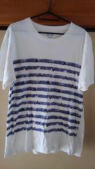 ユニクロ【中古】半袖Tシャツ L ディズニー柄 白 綿100%